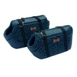 SET BORSETTE LUXURY BLU LEOPARDATO 1/2 CM 44-39