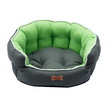 CUCCETTA SWEET DREAM OVALE VERDE MELA CUSCINO DOUBLE-FACE CM 53*47*21